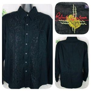 Robert Graham Black Shadow Print Shirt